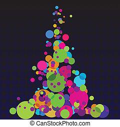 Patrón de círculos coloridos