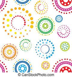 Patrón de círculos sin sentido