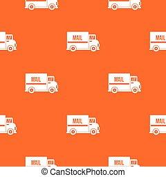 Patrón de camión de correo sin costura