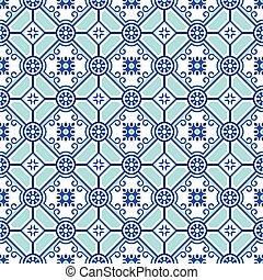 Patrón de cerámica sin costura