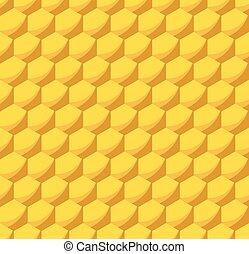 Patrón de colmena sin costura