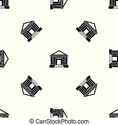 Patrón de Colonnade negro sin costura