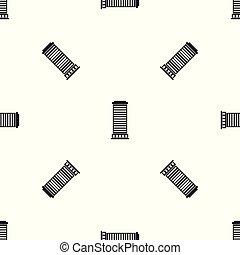 Patrón de columnas negro