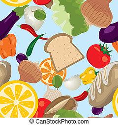 Patrón de comida inservible
