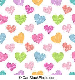Patrón de corazones sin costura