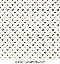 Patrón de corazones sin costura texturizado