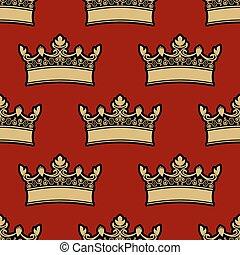 Patrón de corona heráldica sin costura