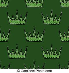 Patrón de corona real sin costura