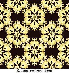 Patrón de cosecha de oro marrón sin costura