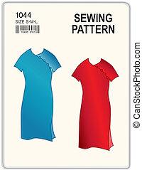 Patrón de costura, vestidos