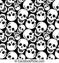 Patrón de cráneos