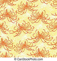 Patrón de crisantemo sin costura