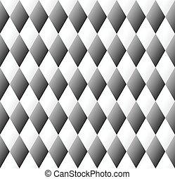 Patrón de diamante en blanco y negro