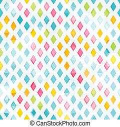 Patrón de diamantes de color sin costura