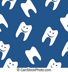 Patrón de dientes sin costura para diseño web. El símbolo del vector