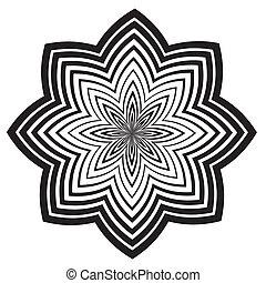 Patrón de diseño blanco y negro