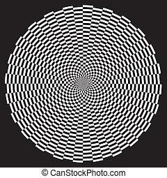 Patrón de diseño de la ilusión espiral