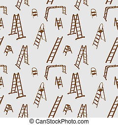 Patrón de escalera sin daños. Ilustración de vectores.