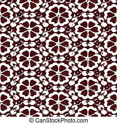 Patrón de flor marrón