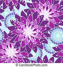 Patrón de flores inservible en tonos púrpura