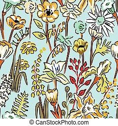 Patrón de flores silvestres