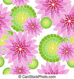 Patrón de flores sin costura