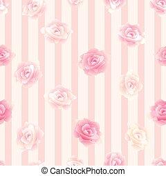Patrón de flores sin semen