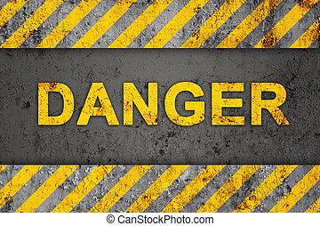 Patrón de flujo con texto de peligro