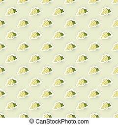 Patrón de fondo con ilustración de uvas