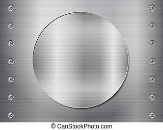 Patrón de fondo de textura metálica. Ilustración de vectores.