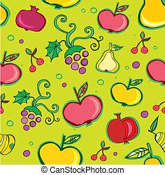 Patrón de fruta sin vector.