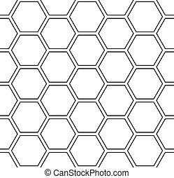 Patrón de hexágonos sin daños. Trasfondo geométrico blanco.