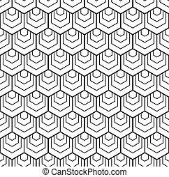 Patrón de hexágonos sin daños. Trasfondo geométrico.
