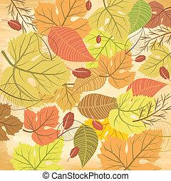 Patrón de hoja de otoño
