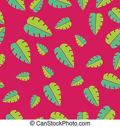 Patrón de hojas tropicales sin nada