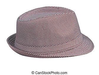 Patrón de Houndstooth, sombrero de hombre