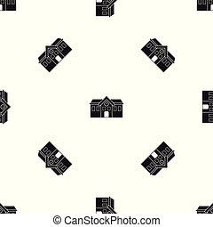 Patrón de la capilla negro