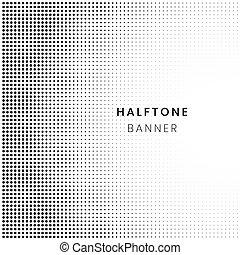 Patrón de la mitad de la mitad del horizontal, puntos de fondo. Planta de arte pop, textura. Ilustración de vectores