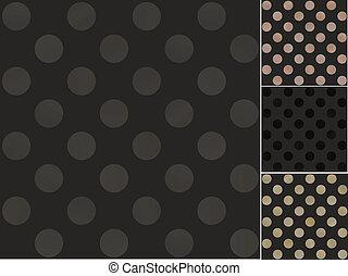 Patrón de lunares negros sin costura