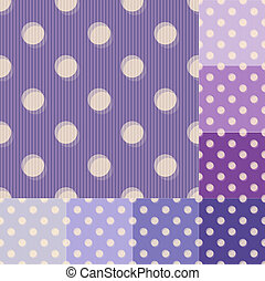 Patrón de lunares púrpura sin costura