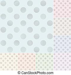 Patrón de lunares pastel sin costura