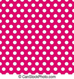 Patrón de lunares rosa y blanco