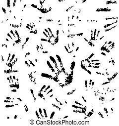 Patrón de manos sin costura