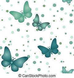 Patrón de mariposa gris azul marino