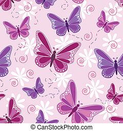Patrón de mariposa sin sentido