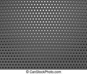 Patrón de metal cuadrado