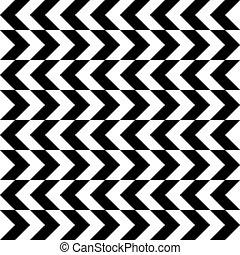 Patrón de monocromo horizontal sin costura