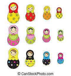 Patrón de muñeca rusa