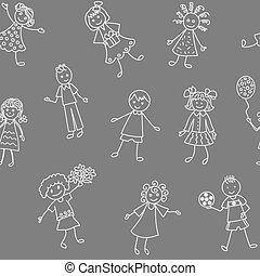 Patrón de niños alegres y alegres