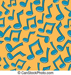 Patrón de notas de música sin sentido